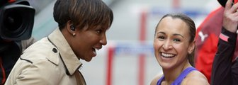 Denise Lewis and Jessica Ennis-Hill