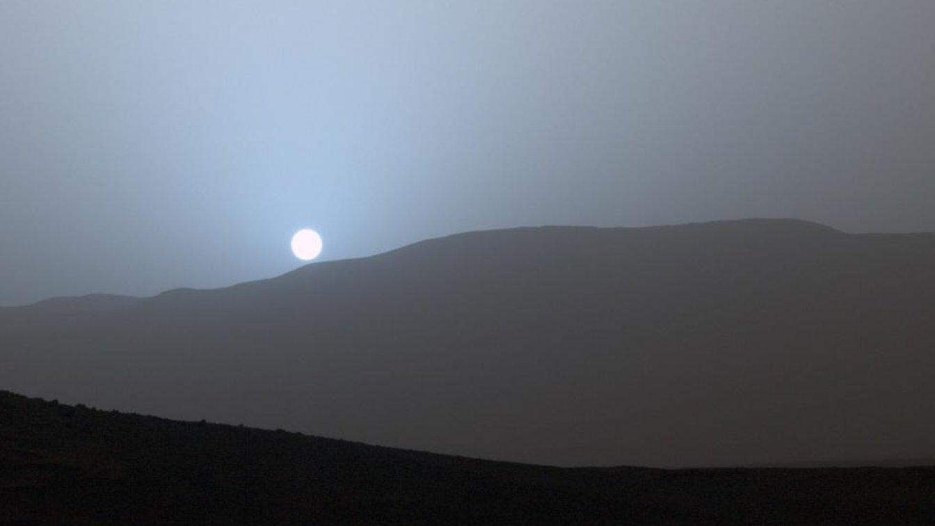 Mars curiosity rover sees blue sunset cbbc newsround - Mars sunset wallpaper ...