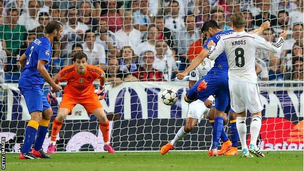 Video kết quả bóng đá Real Madrid 1-1 Juventus