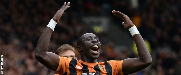 Hull midfielder Mohamed Diame