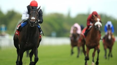 Golden Horn wins the Dante Stakes at York