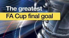 Greatest FA Cup final goal graphic