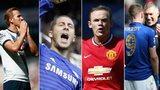 Harry Kane, Eden Hazard, Wayne Rooney, Nigel Pearson
