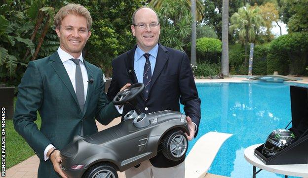 Nico Rosberg and Prince Albert of Monaco
