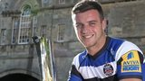 George Ford poses with the Aviva Premiership player of the Season award