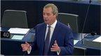Nigel Farage speaks during debate