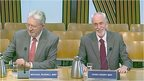 SNP MSP Michael Russell and Labour MSP Hugh Henry
