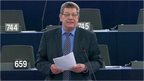 MEP speaks during debate