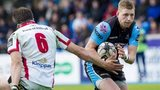 Finn Russell in action for Glasgow Warriors against Ulster