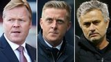 Southampton manager Ronald Koeman, Swansea boss Garry Monk and Chelsea manager Jose Mourinho
