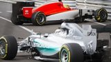 Lewis Hamilton and Roberto Merhi