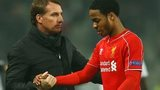 Brendan Rodgers (left) with Raheem Sterling