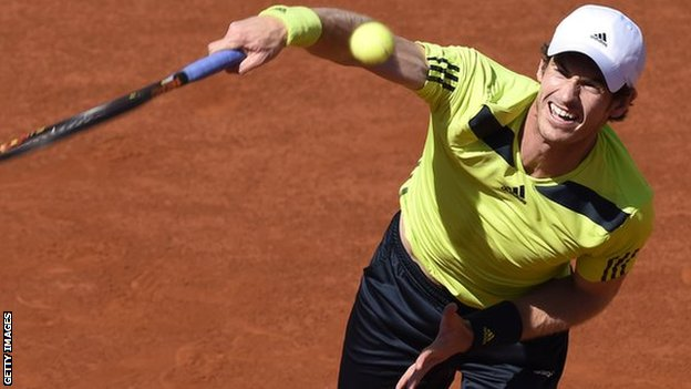 Andy Murray at Roland Garros, 2014