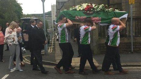 Danny Jones funeral