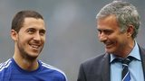 Eden Hazard and Jose Mourinho