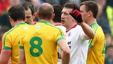 The Donegal v Tyrone match was a fiery affair