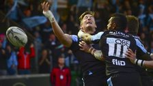 DTH Van Der Merwe celebrates leveling the score for Glasgow Warriors