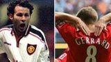 Ryan Giggs, Steven Gerrard and Marcoi van Basten