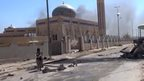 Image from a video released by the Amaq news agency purporting to show Ramadi after Islamic State took control