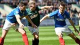Hibernian and Rangers players