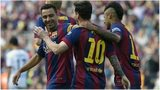 Xavi Hernandez and Lionel Messi