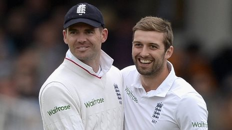 James Anderson and Mark Wood