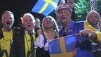 Swedish fans celebrate
