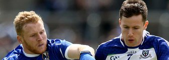 Cavan's James McEnroe and Karl O'Connell of Monaghan