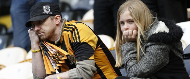 Hull fans dejected