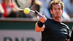 Andy Murray hits a return