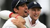 Alastair Cook (left) and Joe Root (right)