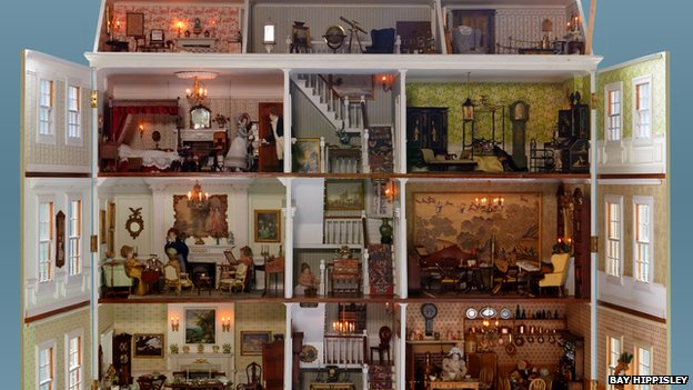 Bbc news doll house collection moves to potting sheds at newby hall - Newby house interiors ...