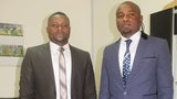 Pamphile Mihayo (left) and Robert Kidiaba