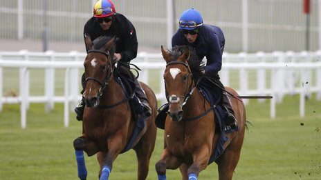 Frankie Dettori and William Buick
