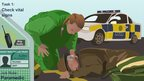 Screenshot of Skillswise English game, Casualty Challenge Paramedic