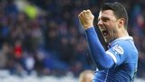 Haris Vuckic celebrates a goal for Rangers