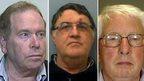 Left to right: Colwyn Baker, Nigel Putman, David Hennessy