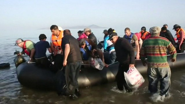 VIDEO: Greek island sees migrant surge...