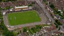 An aerial view of Casement Park GAA ground