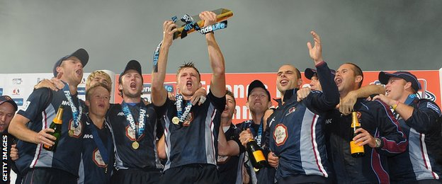 Northants T20 Cup victory