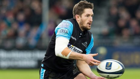 Henry Pyrgos in action for Glasgow Warriors during the European Champions Cup