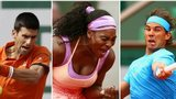 Novak Djokovic, Serena Williams and Rafael Nadal