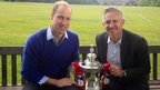 Prince William admits FA Cup nerves