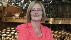 Tricia Marwick in the chamber of the Scottish Parliament