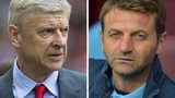 Arsenal manager Arsene Wenger and Aston Villa boss Tim Sherwood