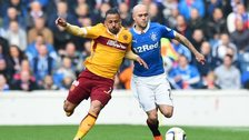 Motherwell's Lionel Ainsworth and Rangers' Nicky Law