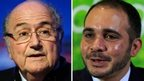 Fifa's Sepp Blatter and Prince Ali bin al-Hussein, 29 May 2015