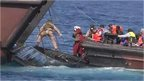 British navy crew rescue migrants