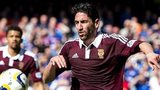 Miguel Pallardo in action for Hearts