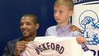 Beckford gives boy replacement shirt